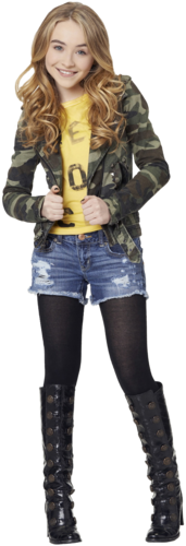 Girl Meets World wallpaper possibly containing bare legs and a hip boot titled Sabrina Carpenter