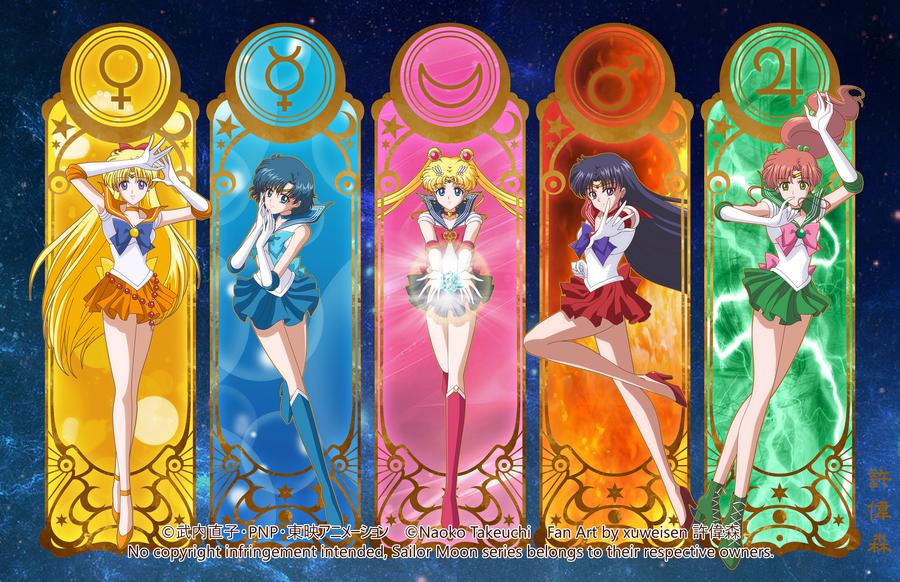 Sailor Moon Crystal Inner Senshi