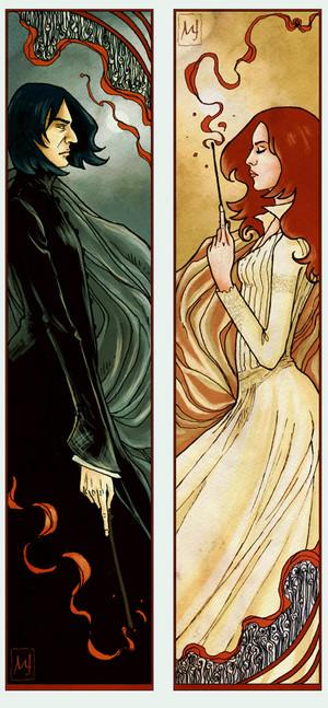 Severus and Lily Bookmarks por ellaine