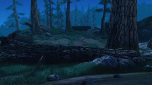 Alpha and Omega 4: The Legend of Saw Tooth Cave karatasi la kupamba ukuta with a ponderosa, a sitka spruce, and a douglas fir entitled Shadow Forest