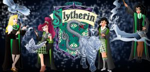 Childhood Animated Movie Characters Hintergrund called Slytherin Princesses
