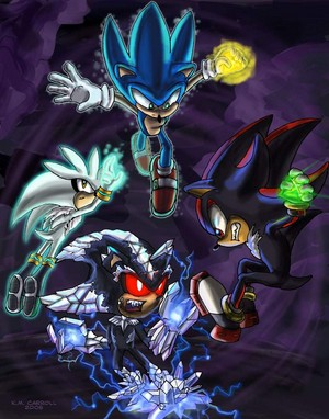 Sonic, Shadow, and Silver Vs Mephiles