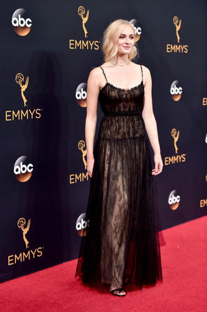 Sophie Turner @ the 2016 Emmy Awards