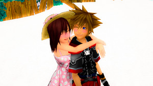 Sora and Kairi Destiny Islands. Love edited