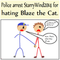 StarryWind2014 gets arrested