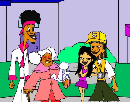 The Proud Family wallpaper containing anime entitled Suga Mama  Puff and Bobby Proud to see Penny and 15 Dating.