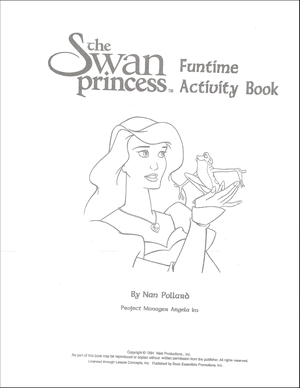 angsa, swan Princess Funtime Activity Book page 1