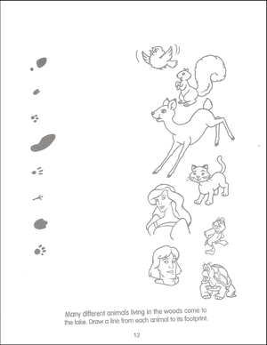 лебедь Princess Funtime Activity Book page 12
