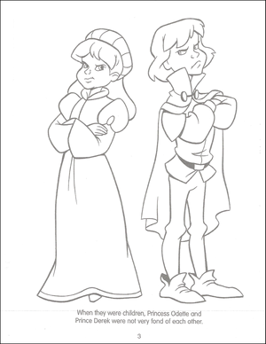лебедь Princess Funtime Activity Book page 3
