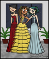 TD Prom: Heather, Courtney, and Gwen - total-drama-island fan art