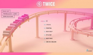 TWICE drops track Liste for 'TWICEcoaster: Lane 1'