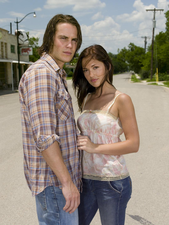 Taylor Kitsch as Tim Riggins and Minka Kelly as Lyla Garrity
