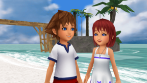 The First Met each other SoKai día Sora x Kairi