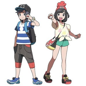 The protagonists of Покемон Sun and Moon
