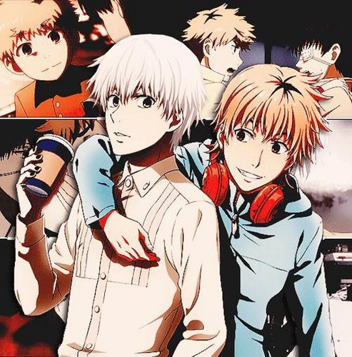 Tokyo Ghoul (Токийский гуль) Обои with Аниме titled Tokyo Ghoul - Kaneki and Hide (Best Friends)