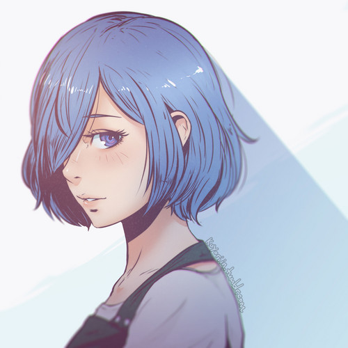 Tokyo Ghoul kertas dinding probably containing a portrait entitled Touka