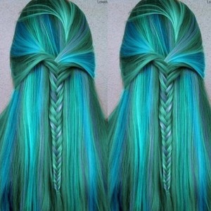 Turqoise Mermaid Hair