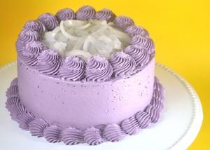 Ube Vanilla Macapuno Cake
