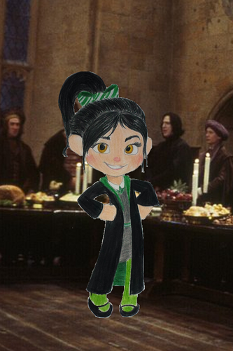 Childhood Animated Movie Characters wallpaper titled Vanellope in Slytherin