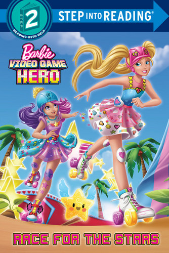 Sinema za Barbie karatasi la kupamba ukuta possibly with anime titled Video Game Hero Book Race for the Stars