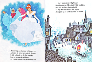 Walt Disney Books - Donald Duck's' Bookclub: Sinderella (Danish Version)