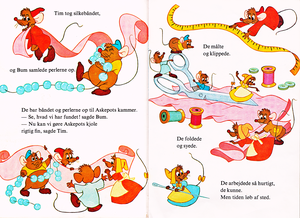 Walt Disney Books - Donald Duck's Bookclub: Cinderella (Danish Version)