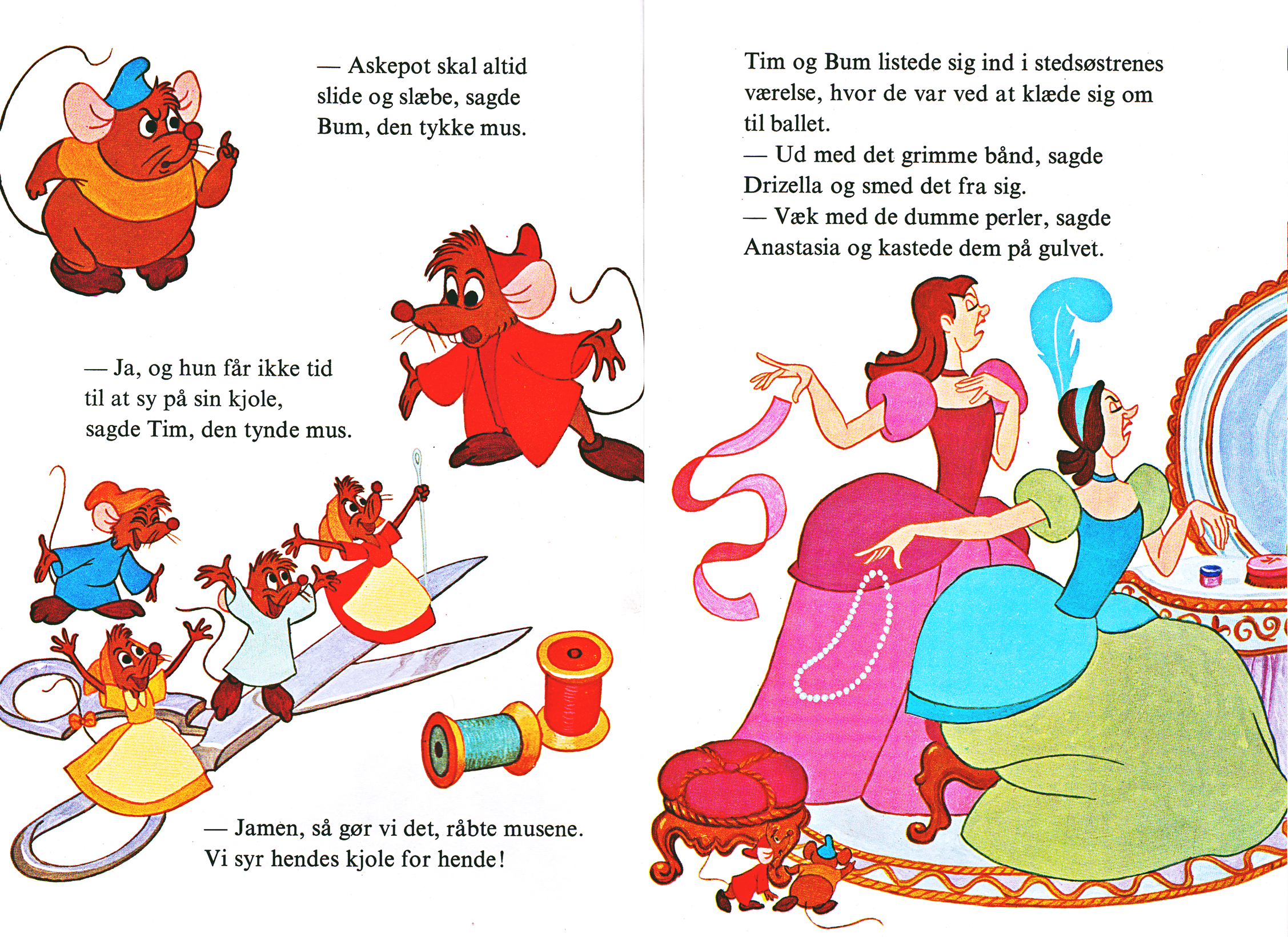 Walt Disney Books - Donald Duck's Bookclub: Cinderella (Danish Version)
