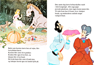 Walt Disney کتابیں - Donald Duck's Bookclub: Cinderella (Danish Version)