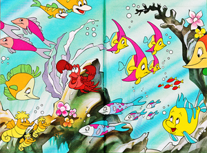 Walt Disney buku - Donald Duck's Bookclub: The Little Mermaid (Danish Version)