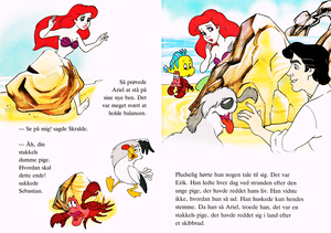 Walt disney Books - Donald Duck's Bookclub: The Little Mermaid (Danish Version)