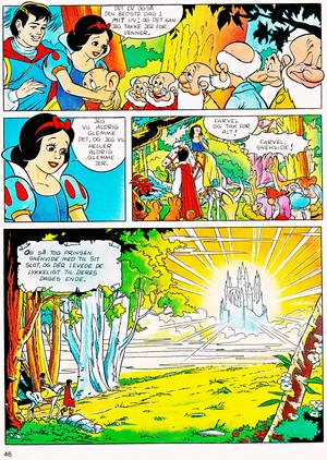 Walt डिज़्नी Movie Comics - Snow White and the Seven Dwarfs (Danish 1992 Version)
