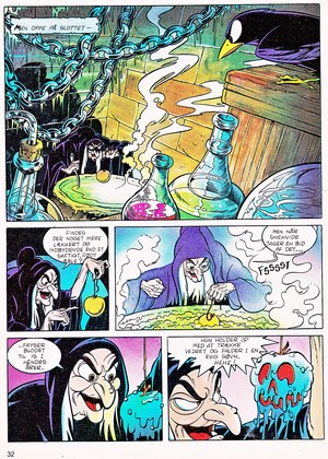 Walt ディズニー Movie Comics - Snow White and the Seven Dwarfs (Danish 1992 Version)