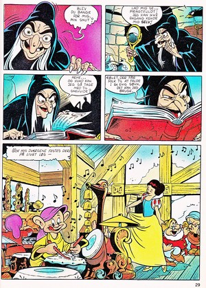 Walt ডিজনি Movie Comics - Snow White and the Seven Dwarfs (Danish 1992 Version)