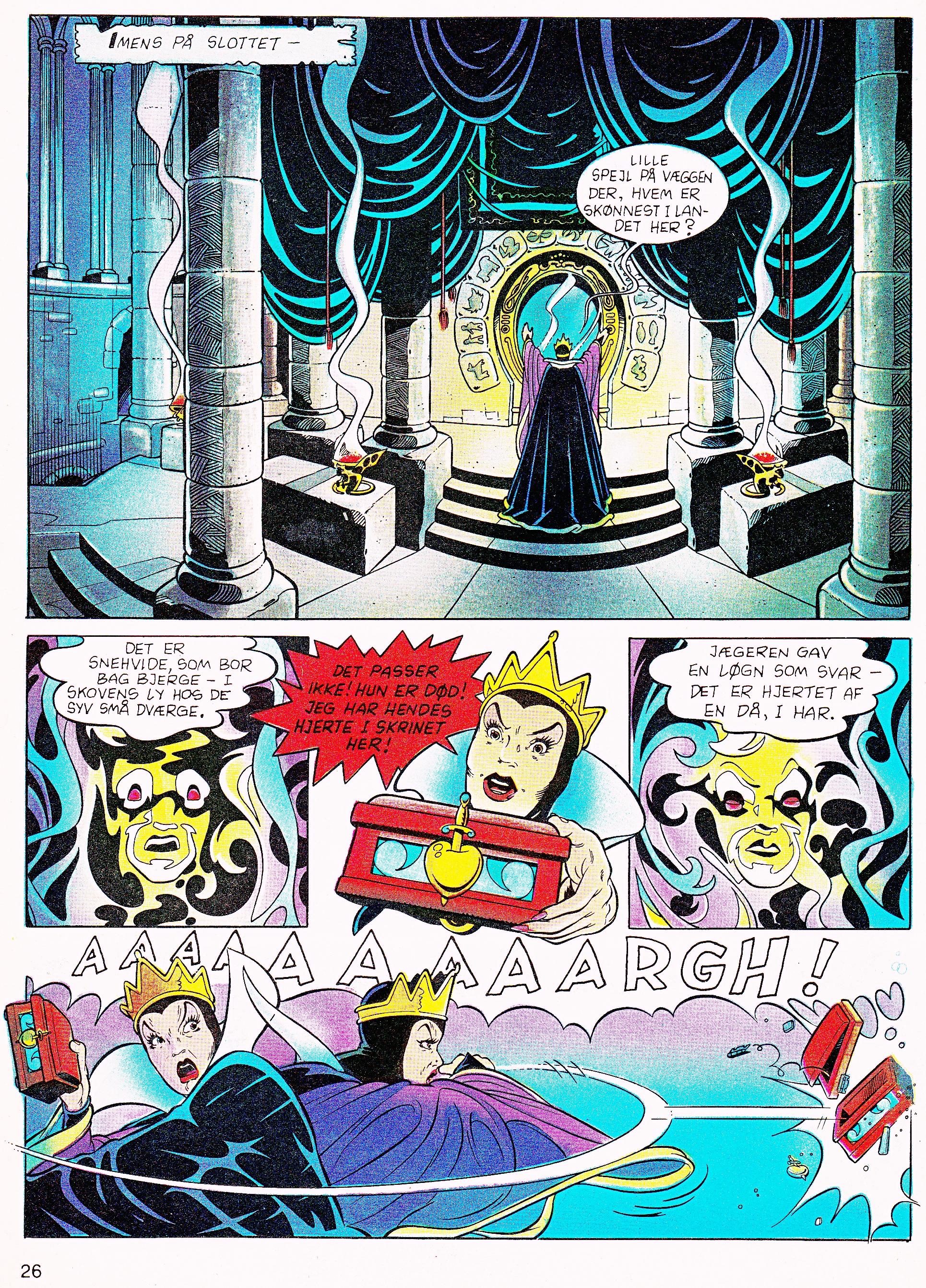 Walt ディズニー Movie Comics - Snow White and the Seven Dwarfs (Danish 1992 Version)