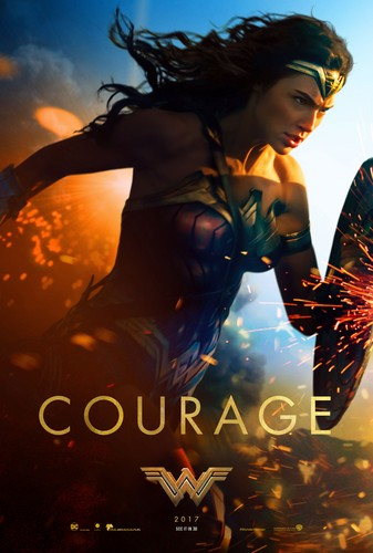 Wonder Woman (2017) karatasi la kupamba ukuta called Wonder Woman (2017) Poster