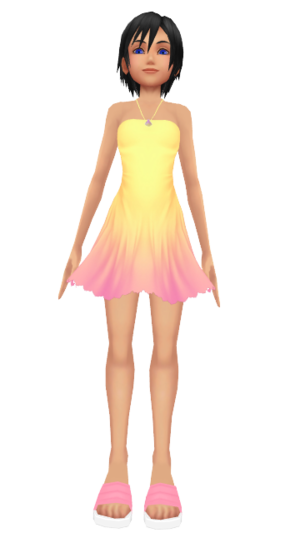 Xion Seashell Sweet Dress Render