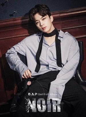 Youngjae's teaser image for 2nd full album 'NOIR'