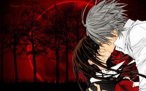 Zero/Yuuki fond d'écran - Bloody Kiss