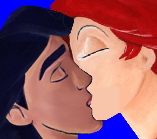 ariel and aladdin kiss
