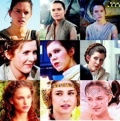 Rey,Leia and Padme