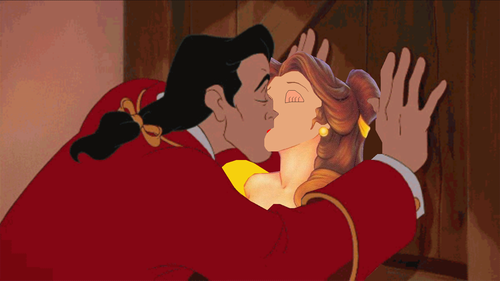 Disney crossover karatasi la kupamba ukuta entitled belle and gaston just married.PNG