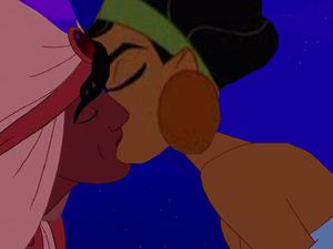chicha and aladdín lovely kiss