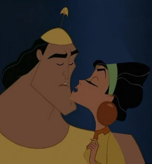 chicha and kronk are to kiss