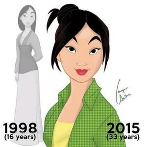Walt Disney peminat Art - Fa Mulan