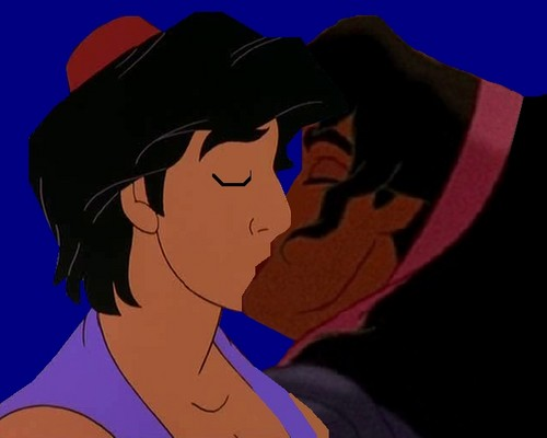 disney crossover achtergrond probably with anime called esmeralda and aladdin kiss 2