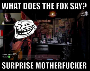 foxy jumpscare funny