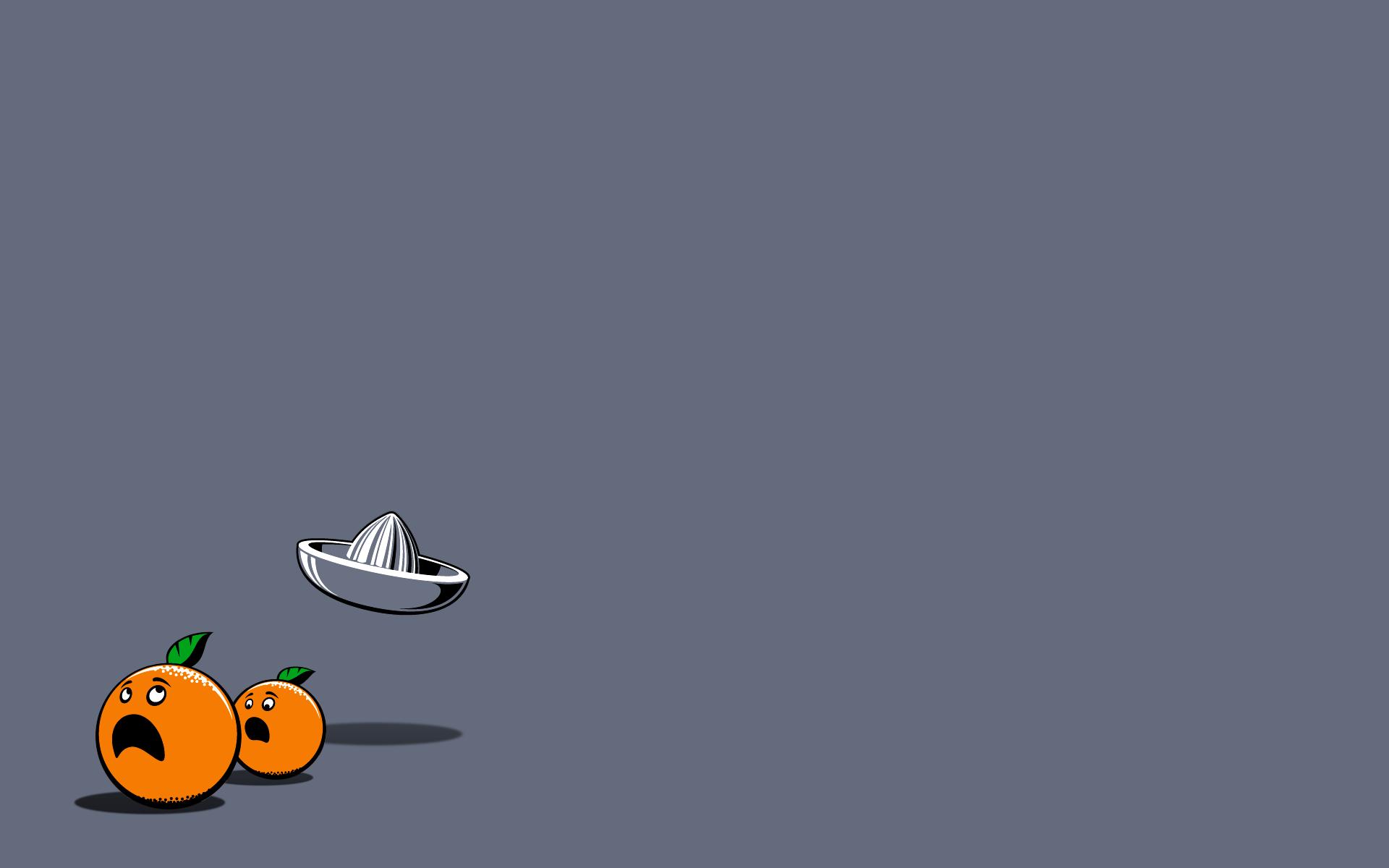 funny minimalistic oranges grey background background ...