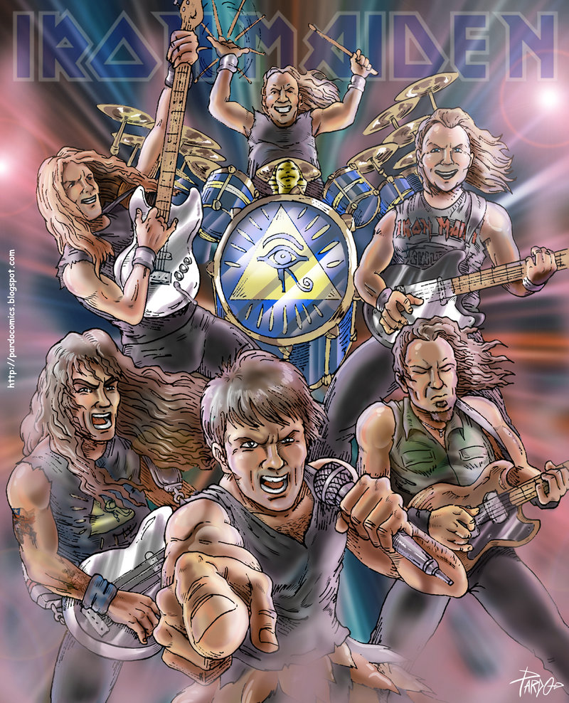Iron Maiden Somewhere Back In Time Iron Maiden фан Art