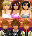 kingdom hearts boys and girls date couples - kingdom-hearts fan art