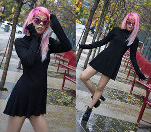 light گلابی hair, unicorn hair, la carmina, goth dress, morph8ne, asian gothic, گلابی hair dye